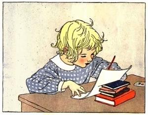 children_writing